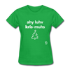I Love Christmas Women's T-Shirt - bright green