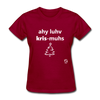 I Love Christmas Women's T-Shirt - dark red