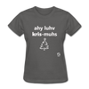 I Love Christmas Women's T-Shirt - charcoal