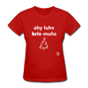 I Love Christmas Women's T-Shirt - red