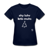 I Love Christmas Women's T-Shirt - navy