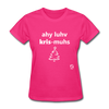 I Love Christmas Women's T-Shirt - fuchsia