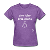 I Love Christmas Women's T-Shirt - purple heather