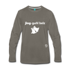 Jingle Bells Premium Long Sleeve T-Shirt - asphalt gray