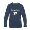 Jingle Bells Premium Long Sleeve T-Shirt - navy