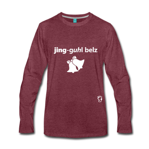Jingle Bells Premium Long Sleeve T-Shirt - heather burgundy