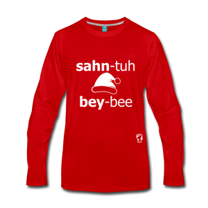 Santa Baby Premium Long Sleeve T-Shirt - red
