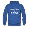 Naughty and Nice Hoodie - royal blue
