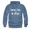 Naughty and Nice Hoodie - denim blue