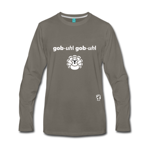 Gobble Gobble Premium Long Sleeve T-Shirt - asphalt gray