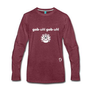 Gobble Gobble Premium Long Sleeve T-Shirt - heather burgundy