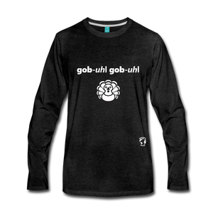 Gobble Gobble Premium Long Sleeve T-Shirt - charcoal gray