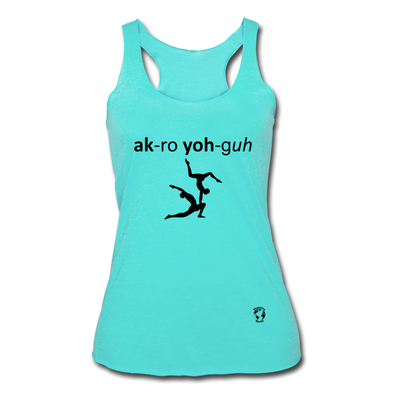 Acro Yoga Women's Tri-Blend Racerback Tank - heather dusty rose