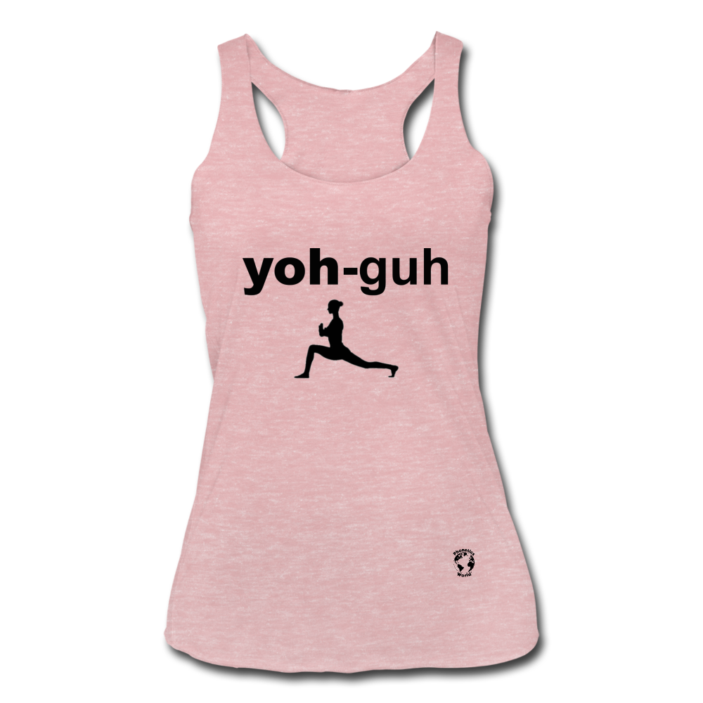 Yoga Women's Tri-Blend Racerback Tank - heather dusty rose
