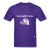 Book Publisher Tagless T-Shirt - purple