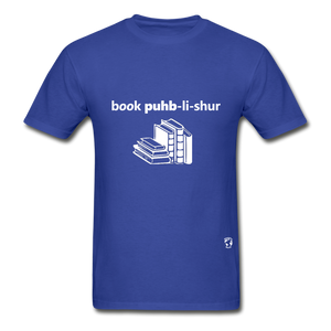 Book Publisher Tagless T-Shirt - royal blue