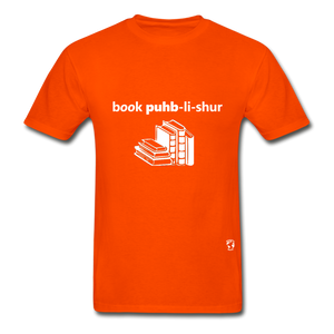 Book Publisher Tagless T-Shirt - orange