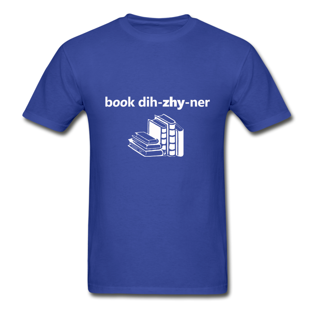 Book Designer Tagless T-Shirt - royal blue