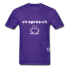 Espresso Hanes Adult Tagless T-Shirt - purple