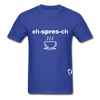 Espresso Hanes Adult Tagless T-Shirt - royal blue
