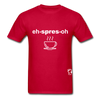 Espresso Hanes Adult Tagless T-Shirt - red