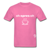 Espresso Hanes Adult Tagless T-Shirt - hot pink