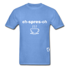 Espresso Hanes Adult Tagless T-Shirt - carolina blue