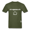 Espresso Hanes Adult Tagless T-Shirt - military green