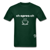 Espresso Hanes Adult Tagless T-Shirt - forest green