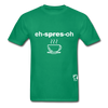 Espresso Hanes Adult Tagless T-Shirt - kelly green