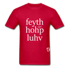 Faith, Hope, Love Hanes Adult Tagless T-Shirt - red