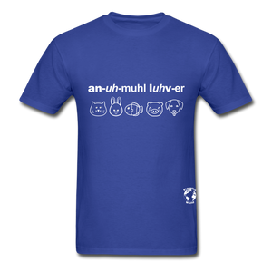 Animal Lover Hanes Adult Tagless T-Shirt - royal blue