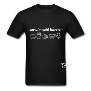 Animal Lover Hanes Adult Tagless T-Shirt - black