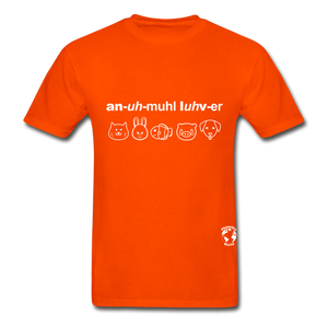 Animal Lover Hanes Adult Tagless T-Shirt - orange