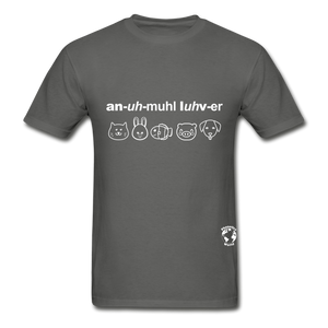 Animal Lover Hanes Adult Tagless T-Shirt - charcoal