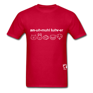 Animal Lover Hanes Adult Tagless T-Shirt - red