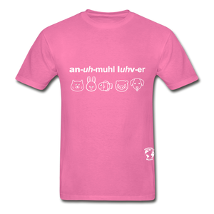 Animal Lover Hanes Adult Tagless T-Shirt - hot pink