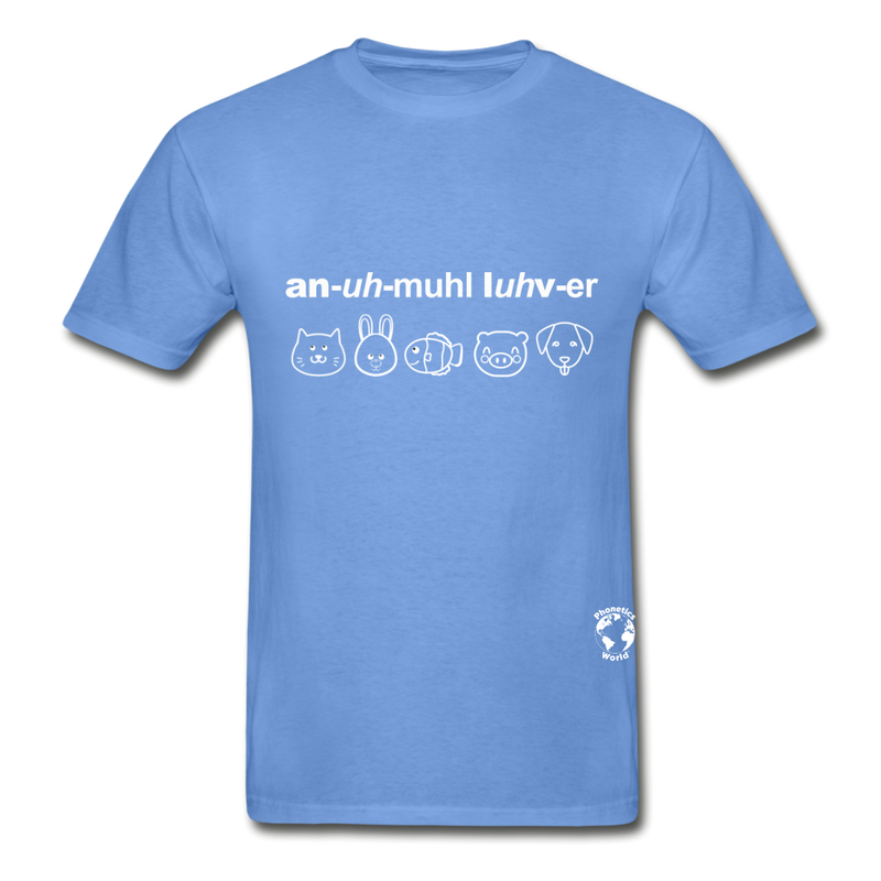 Animal Lover Hanes Adult Tagless T-Shirt - carolina blue