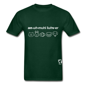 Animal Lover Hanes Adult Tagless T-Shirt - forest green