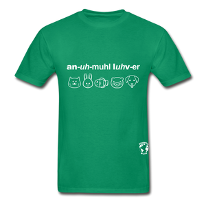 Animal Lover Hanes Adult Tagless T-Shirt - kelly green