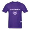 Optimistic Hanes Adult Tagless T-Shirt - purple
