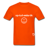Optimistic Hanes Adult Tagless T-Shirt - orange