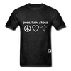 Peace, Love and Cows Hanes Adult Tagless T-Shirt - charcoal gray
