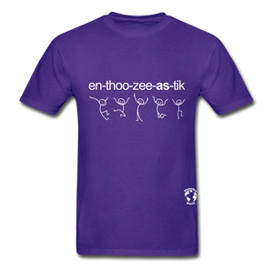 Enthusiastic Hanes Adult Tagless T-Shirt - purple