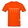 Enthusiastic Hanes Adult Tagless T-Shirt - orange