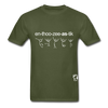 Enthusiastic Hanes Adult Tagless T-Shirt - military green