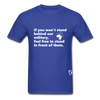 Stand Behind our Military T-Shirt - royal blue