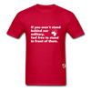 Stand Behind our Military T-Shirt - red