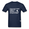 Stand Behind our Military T-Shirt - navy