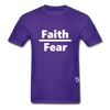 Faith over Fear T-Shirt - purple